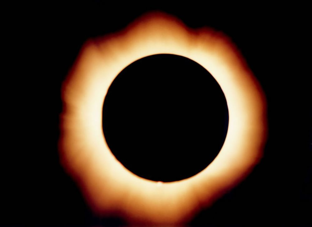 A solar eclipse. Reminds me of the Eye of Sauron. Coincidence?