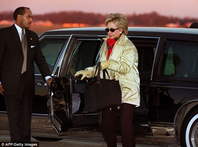 Hillary Clinton Steps out of a US Secret Service Limousine. Courtesy AFP/Getty Images