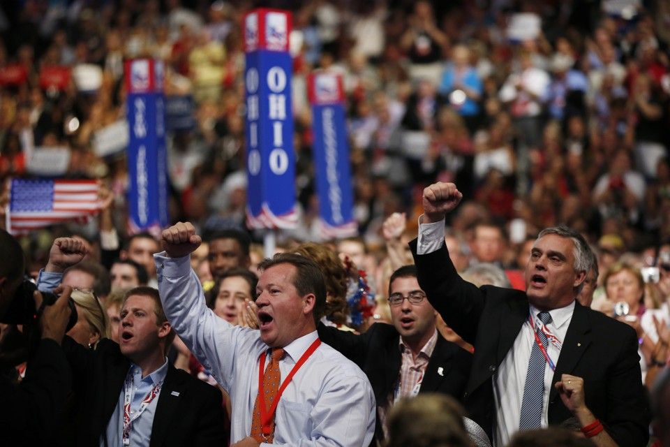 Delegates to the 2012 GOP Convention. Courtesy AP