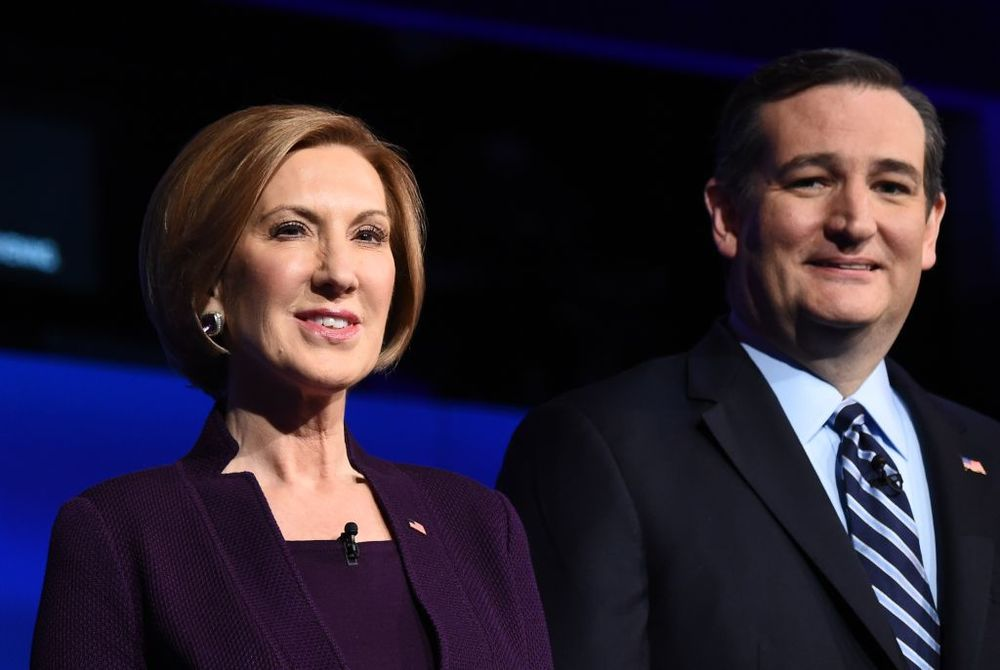 Carly Fiorina and Senator Ted Cruz, the first ticket of 2016.