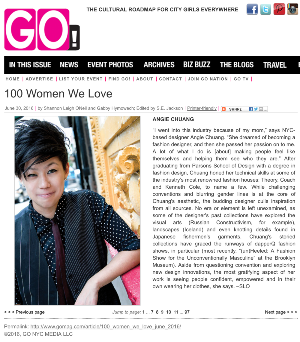 GO Magazine 100 Women We Love