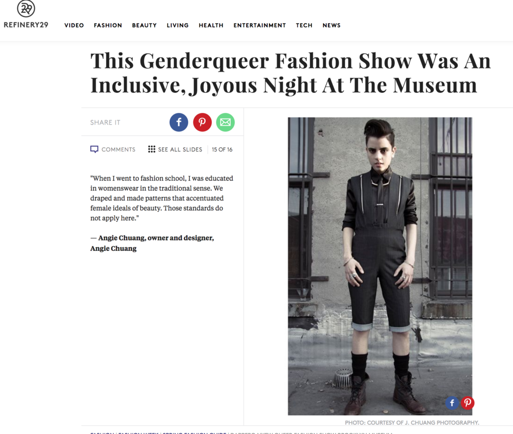 Refinery29 This Genderqueer Fashion Show Was An Inclusive, Joyous Night At the Museum