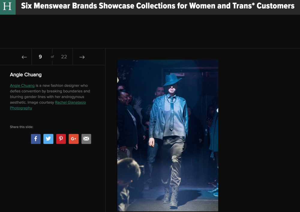 Huffington Post Six Menswear Brands Showcase Collections for Women and Trans* Customers