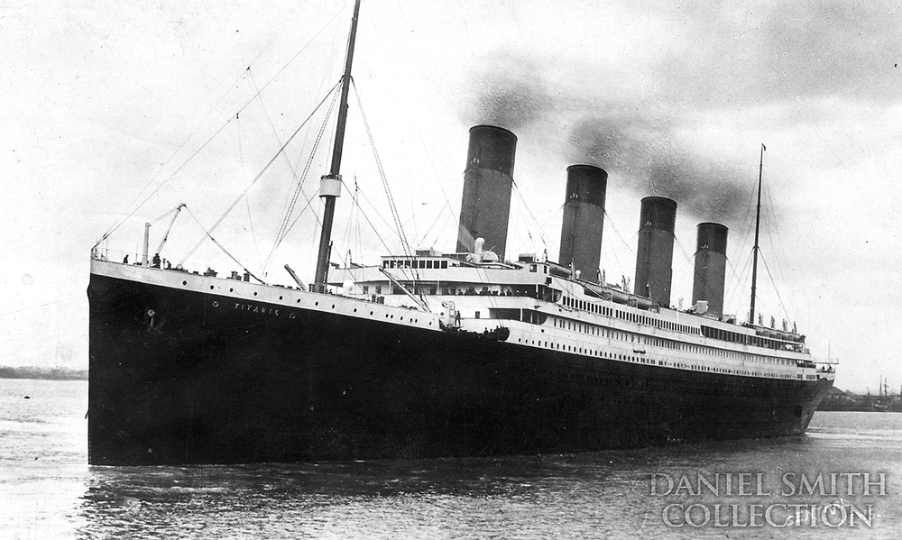 Titanic setting out on her maiden - and final - voyage.