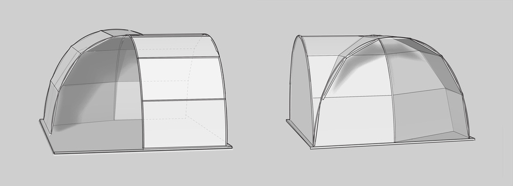 igloo + dome hybrid