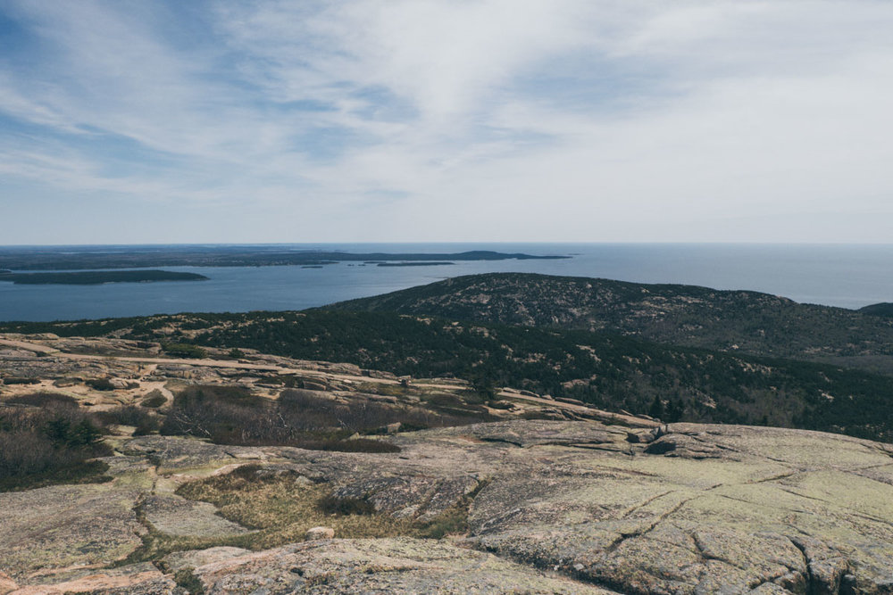 Cadillac Mountain, looking east towards Bar Harbor