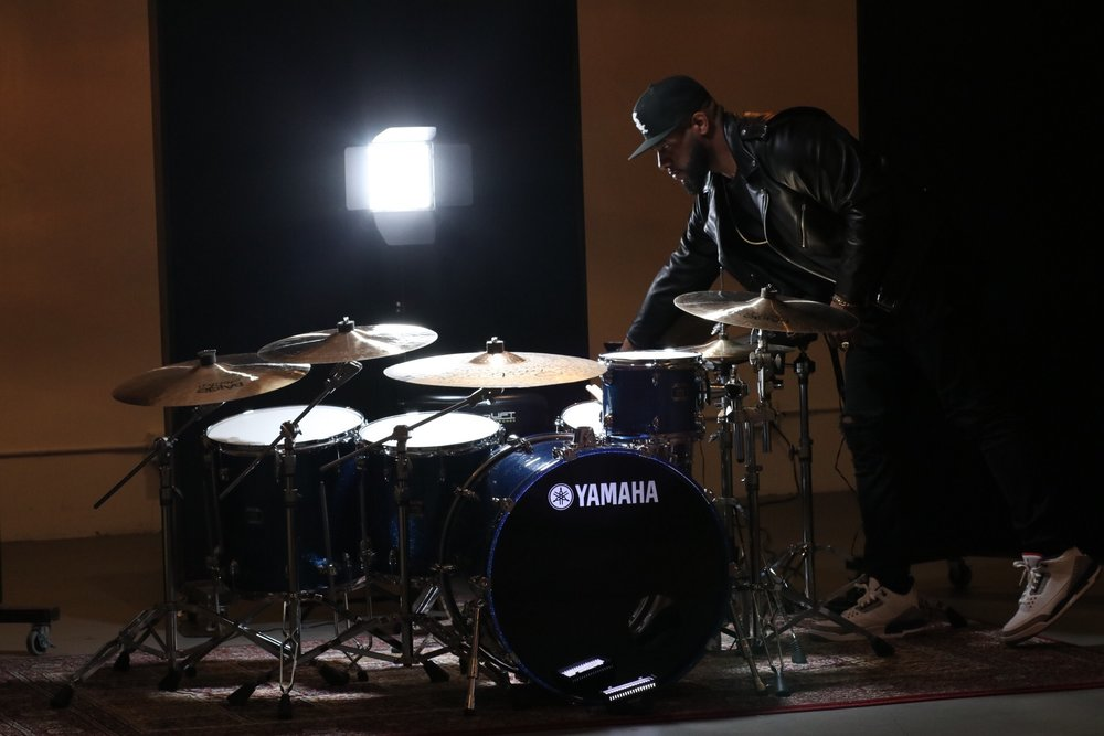 YAMAHA OAK CUSTOM DRUMS