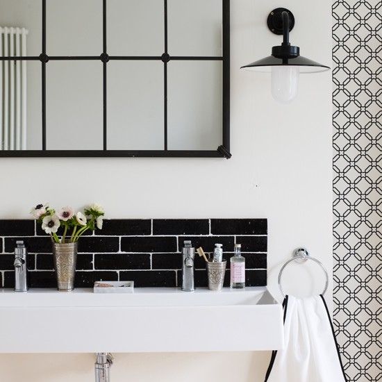 Black And White Bathroom Sink Homes And Gardens