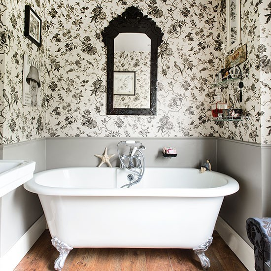 Black And White Toile Bathroom 25 Beautiful Homes