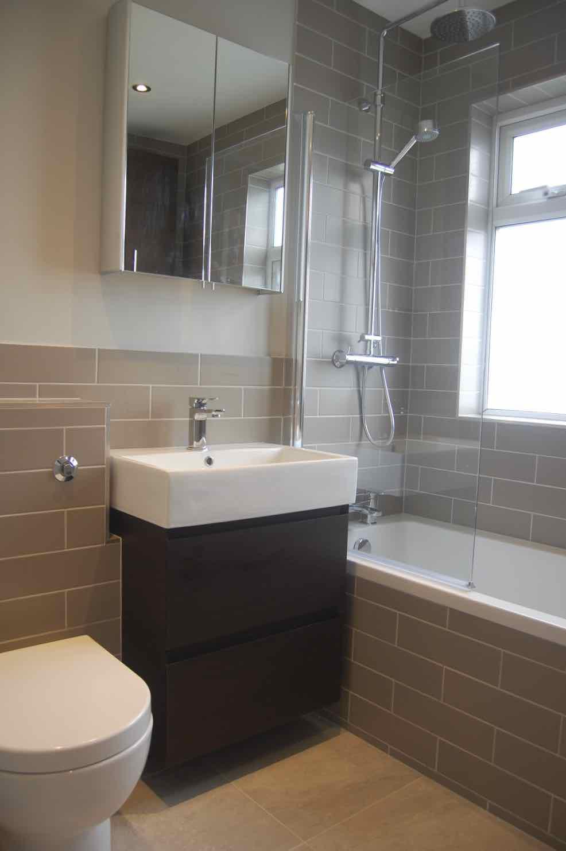 £7,700 - Family Bathroom - minimal build/prep - concealed cistern, additional storage unit, dual shower system, Saneux and Flova brands.