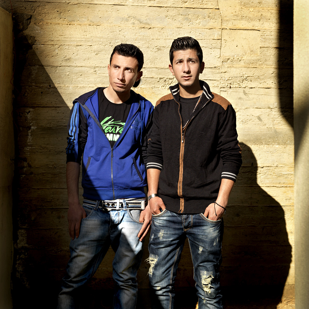 Wassim Mamo (18, left) and Shabi (17) from Tell Nasri