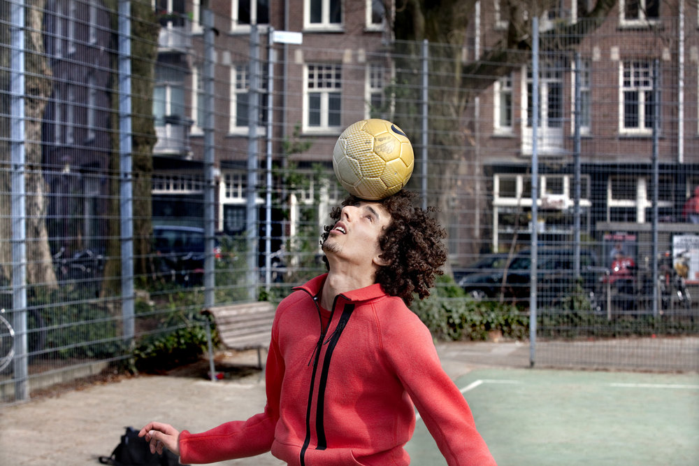 Part of reportage about Nabil, a young street soccer player in Amsterdam.   Use: Part of a digital documentary series about soccer players throughout the world.   Cliënt: Reuters (In assignment for Microsoft)