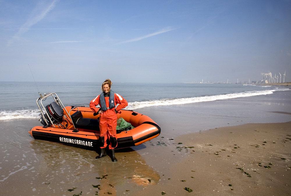 Mee met de reddingsbrigade bij Hoek van Holland
