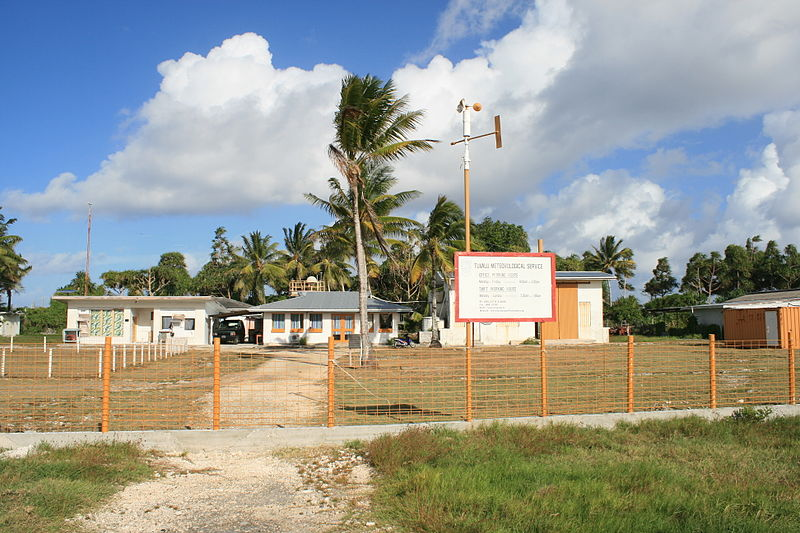 Tuvalu Meteorology Service. Photo Credit: Davidarfonjones (cc-by-sa3.0; http://creativecommons.org/licenses/by-sa/3.0/legalcode)