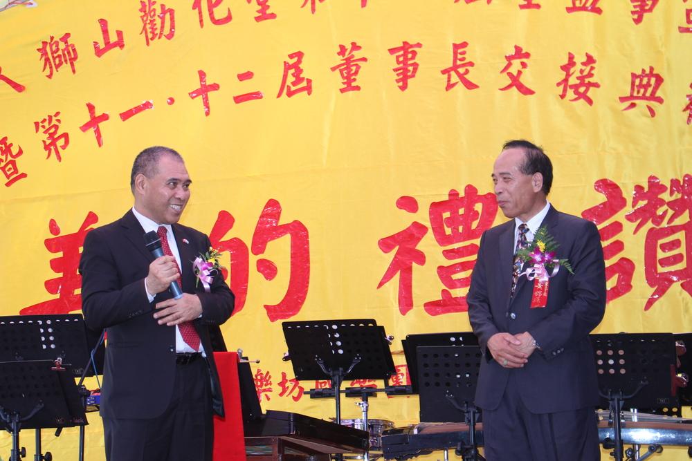 Ambassador Minute Alapati Taupo and Chairman Huang Jin-Yuan/陶敏德大使與黃錦源董事長