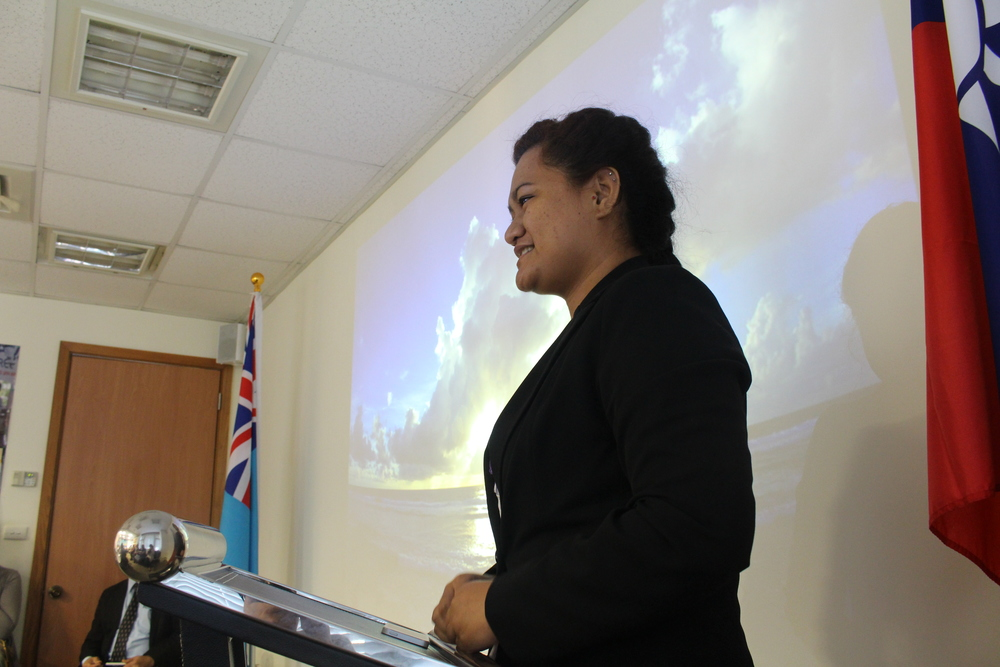 Speech by Tuvalu Student Association President Lafita Paeniu/吐瓦魯駐華學生會團長Lafita Paeniu致詞