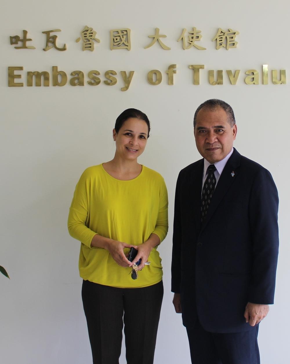 Ambassador Minute Alapati Taupo and Ambassador Rachel Coupaud/陶敏德大使與庫珀大使