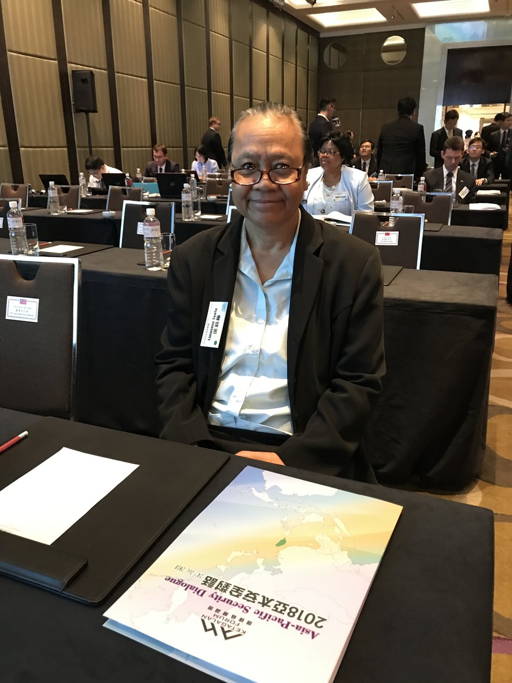 "H.E. Ambassador Limasene Teatu attended ""Ketagalan Forum: 2018 Asia-Pacific Security Dialogue"" on 24th July, 2018."