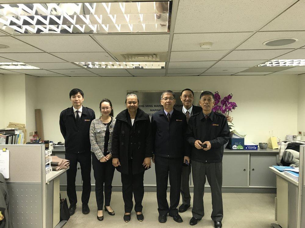 Ambassador Teatu with Yang Ming Marine/涂莉梅大使與陽明海運長官合影