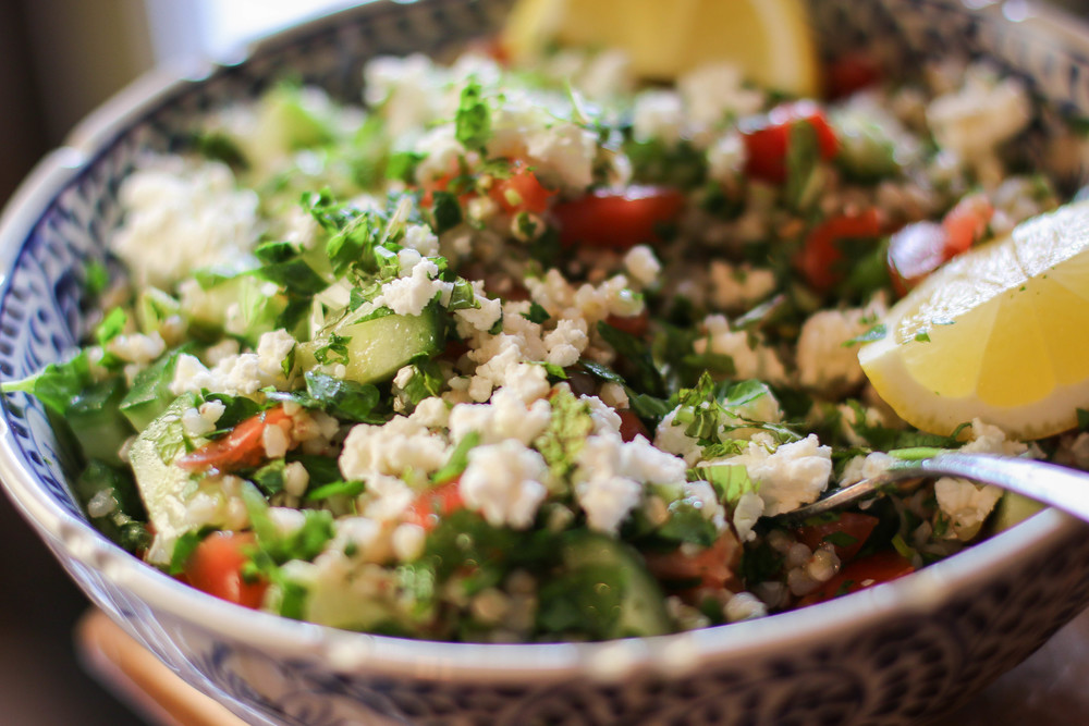 buckwheat tabbouleh a traditional tabbouleh and green olive tabbouleh ...