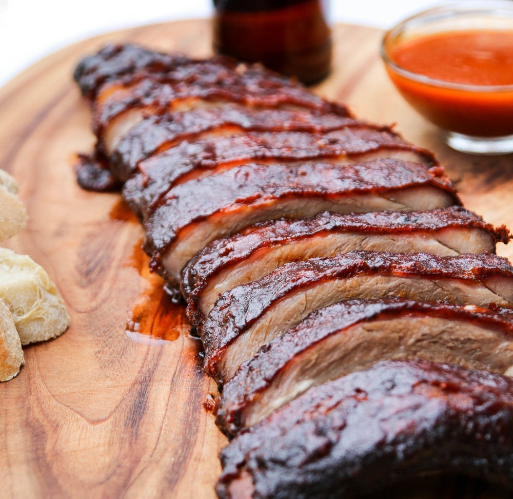 The Hungry Hounds— Spicy Maple Glazed Baby Back Ribs