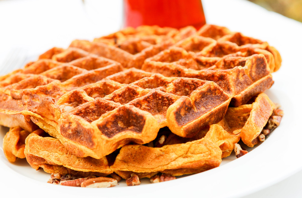 The Hungry Hounds— Pumpkin Praline Waffles