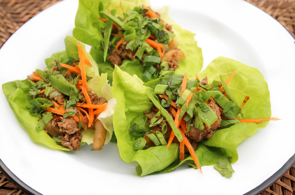 The Hungry Hounds— Thai Spiced Turkey Lettuce Wraps
