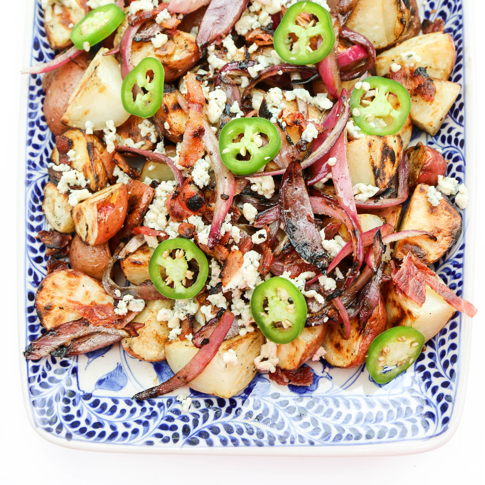 The Hungry Hounds— Grilled Potato Salad with Jalapeno ...