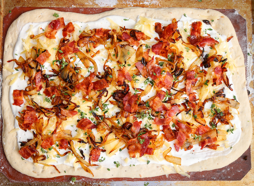 The Hungry Hounds— Bacon and Caramelized Onion Flatbread ...