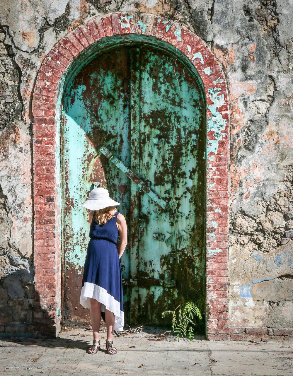 Rebecca in historic Jacmel