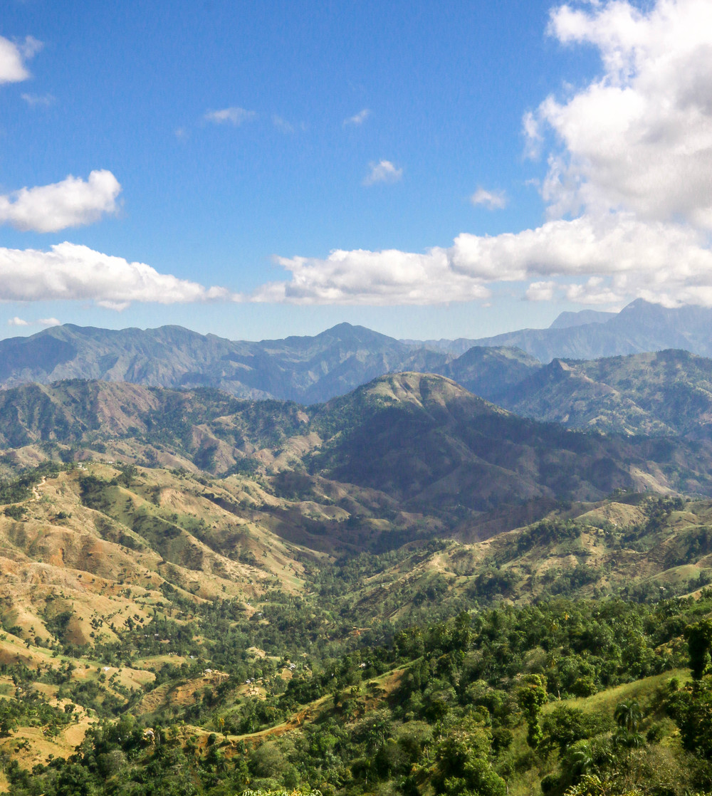 The winding mountainous road to Jacmel