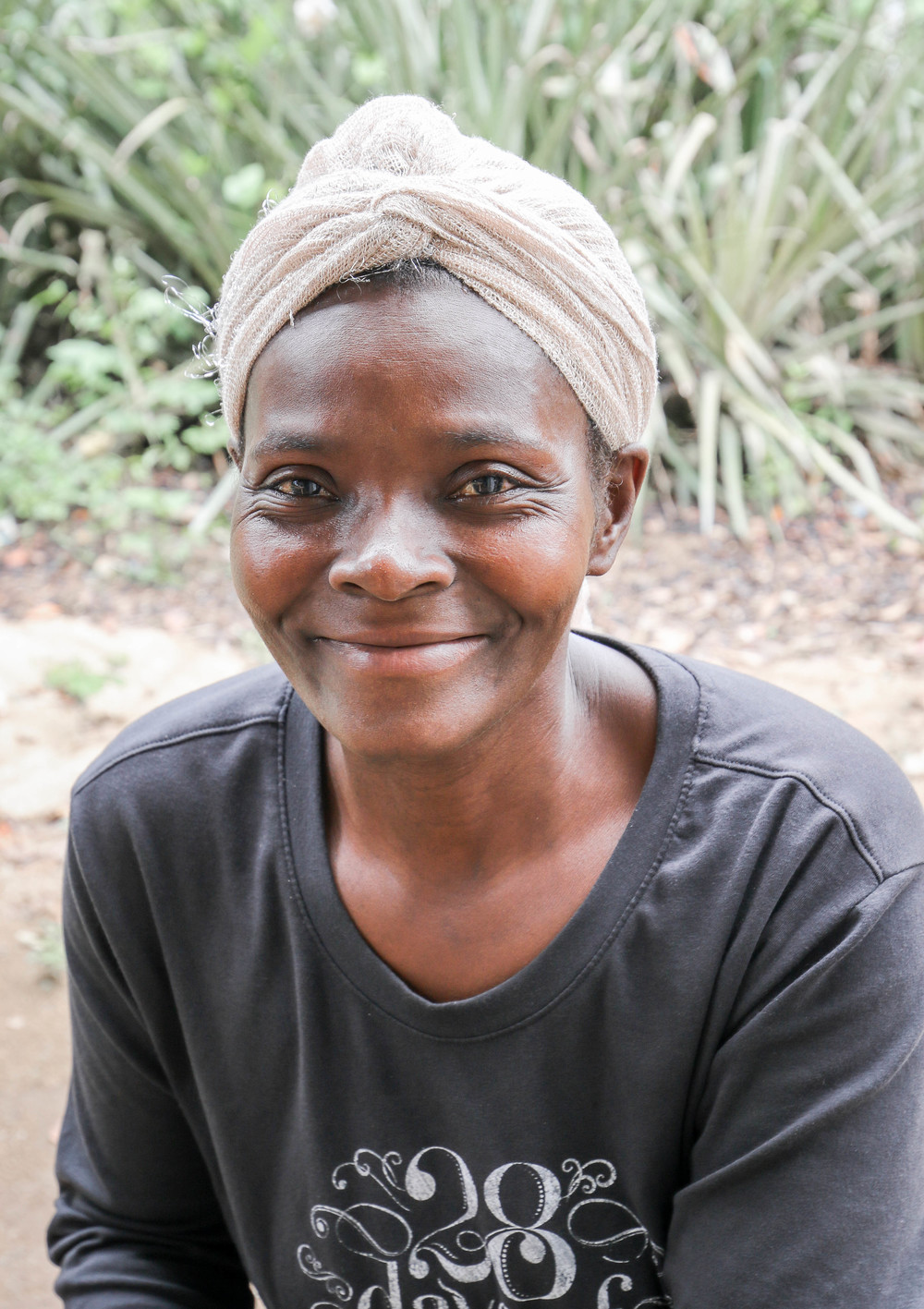 Deymen Elfare  -- Cooperative member and farmer in Mombin Crochu who helped in the group's cashew processing