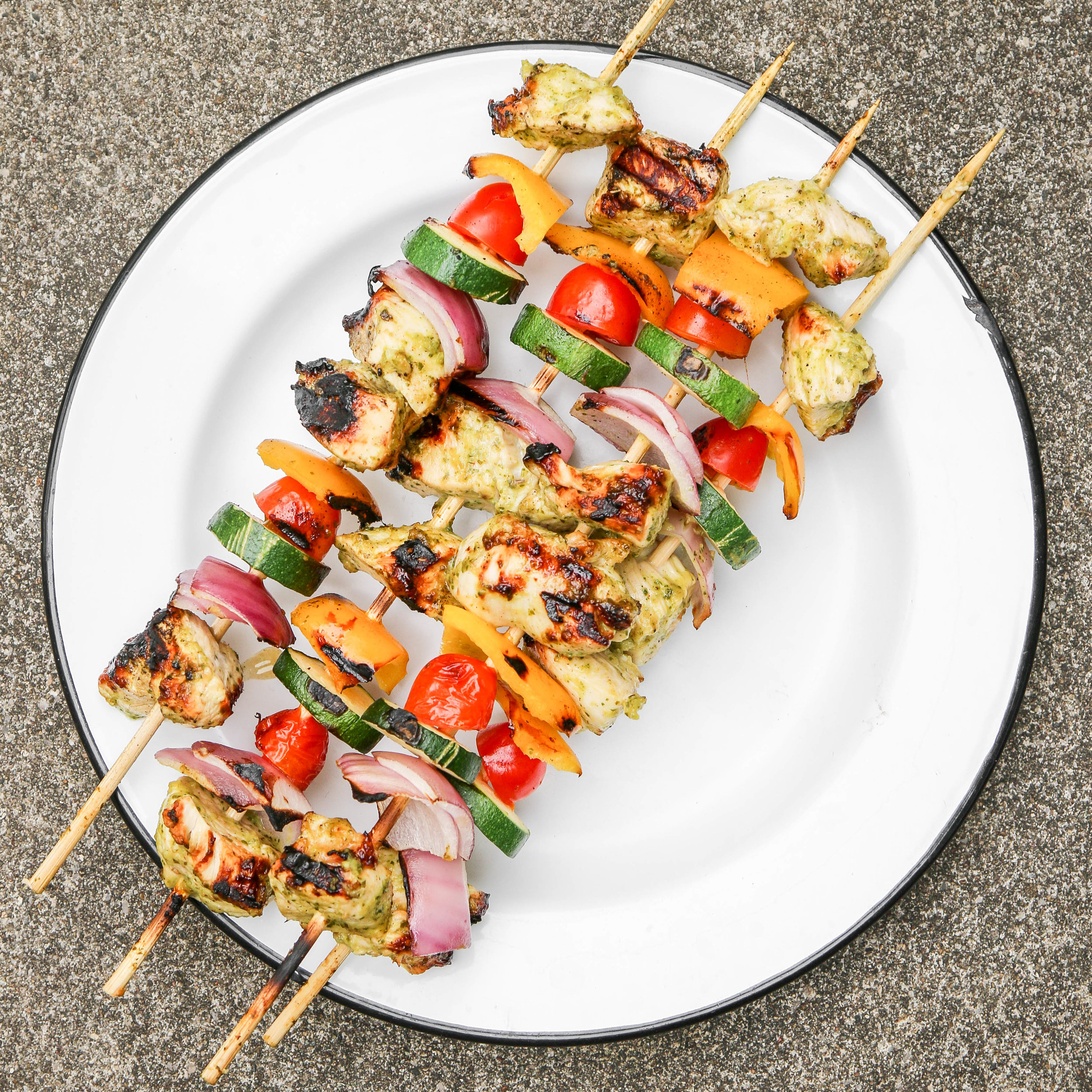 How long do i grill chicken skewers - Orange Cilantro Grilled Chicken Skewers