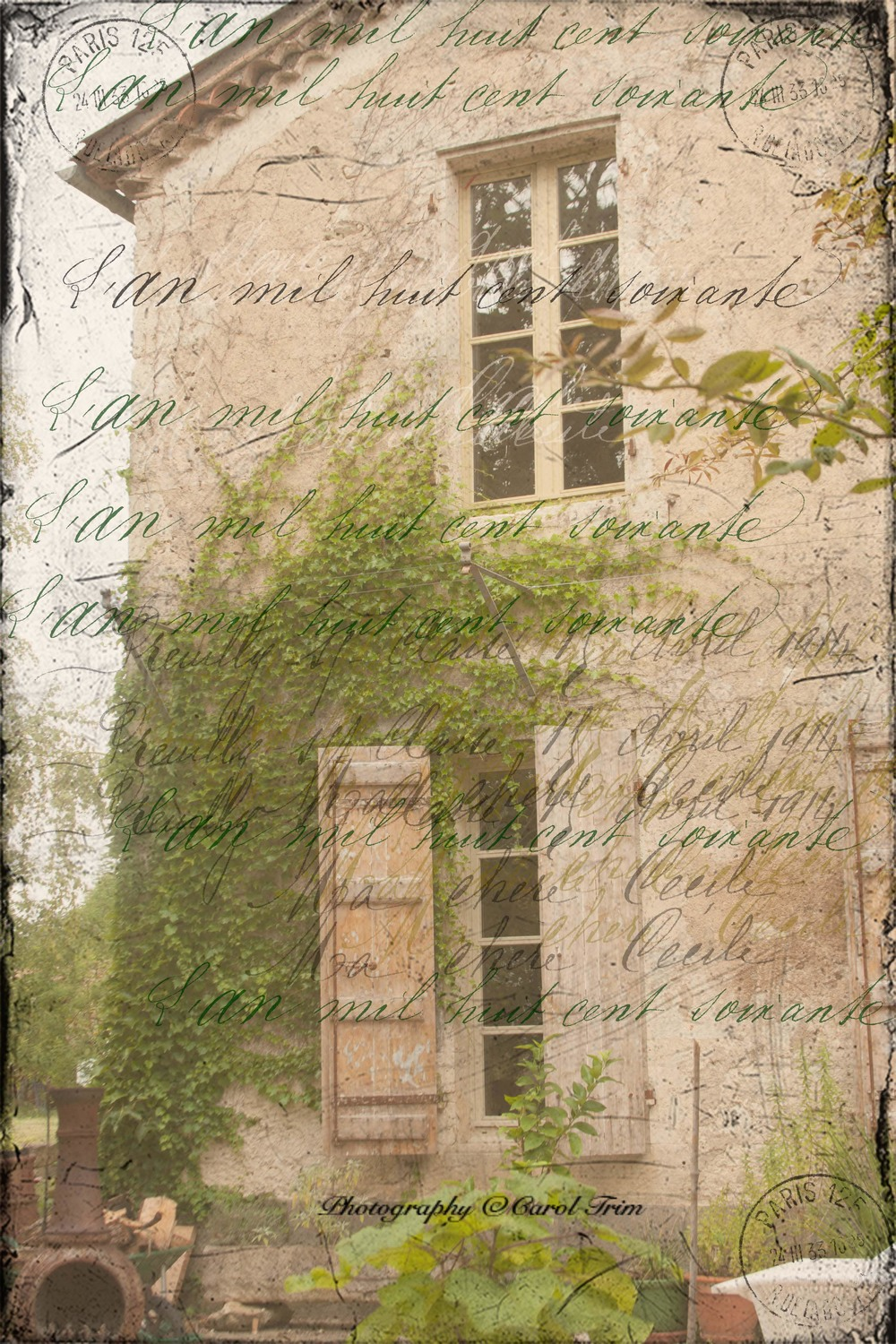 House with french text