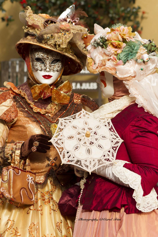 Two masked ladies