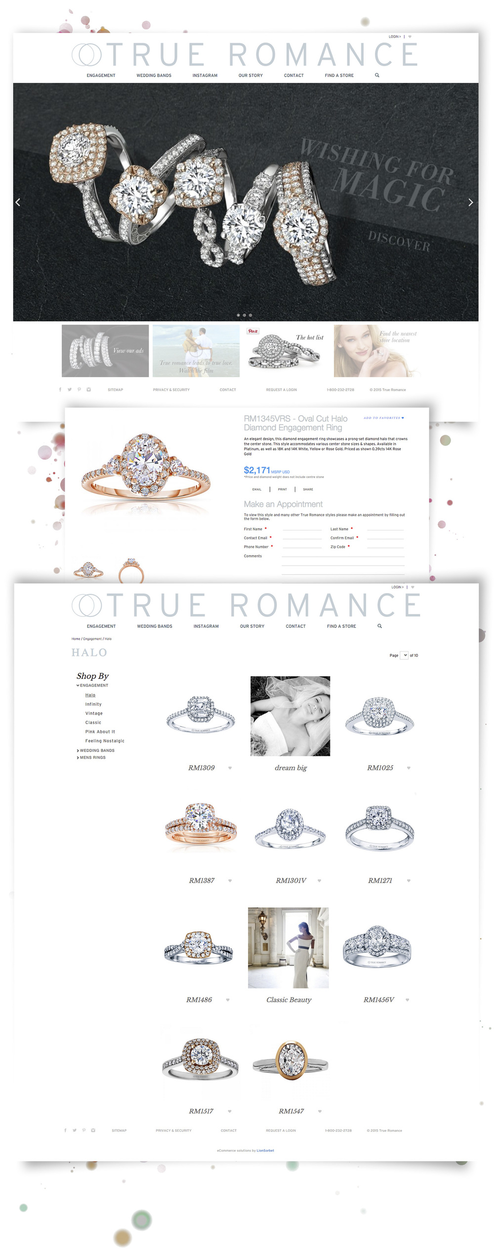 diamond jewellery website design