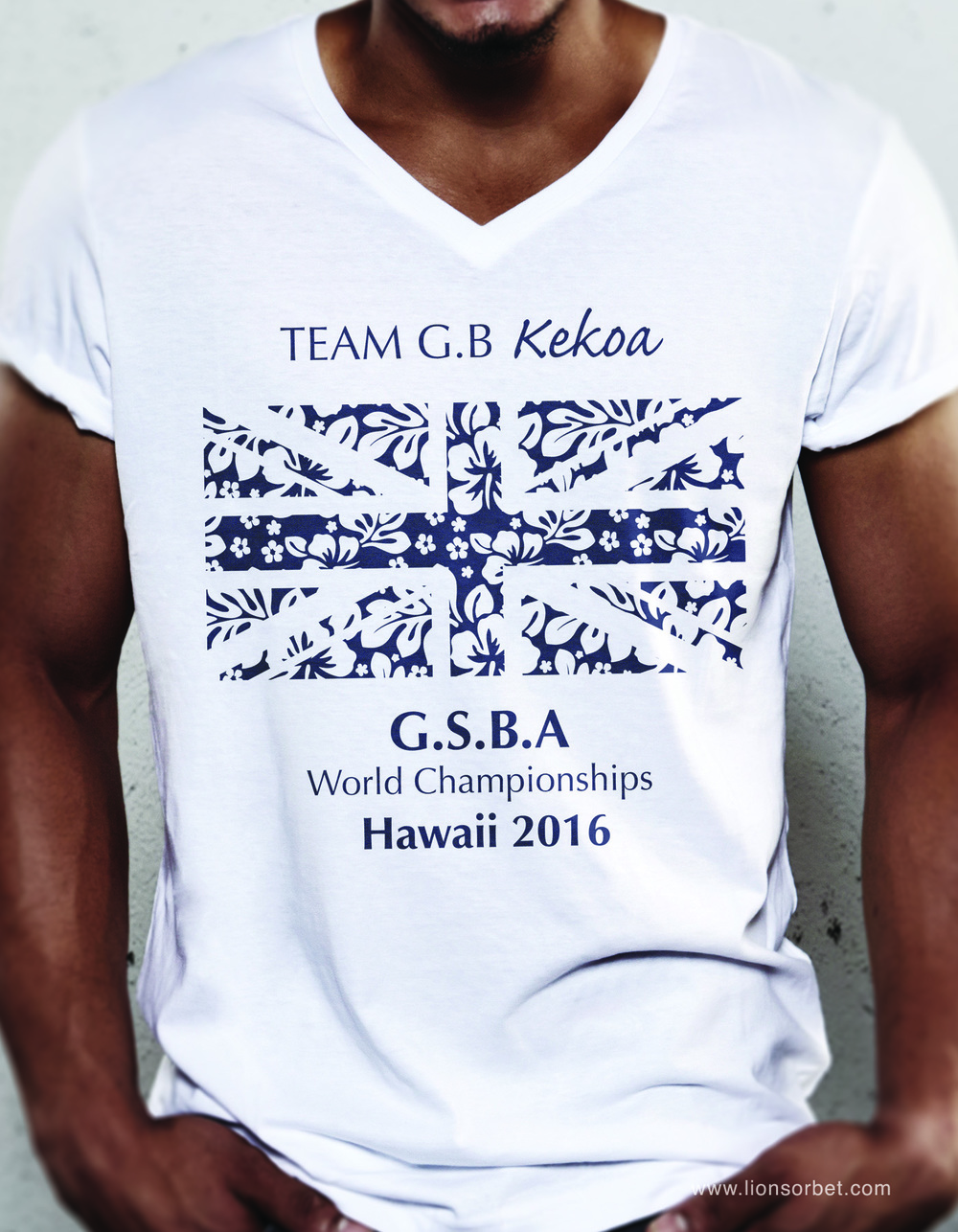Squad Tee Design for the GSBA World Championships held in Hawaii 2016