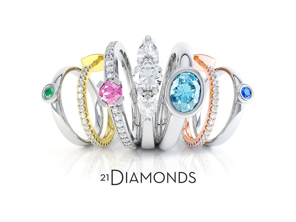 Product launch at  www.21diamonds.co.uk