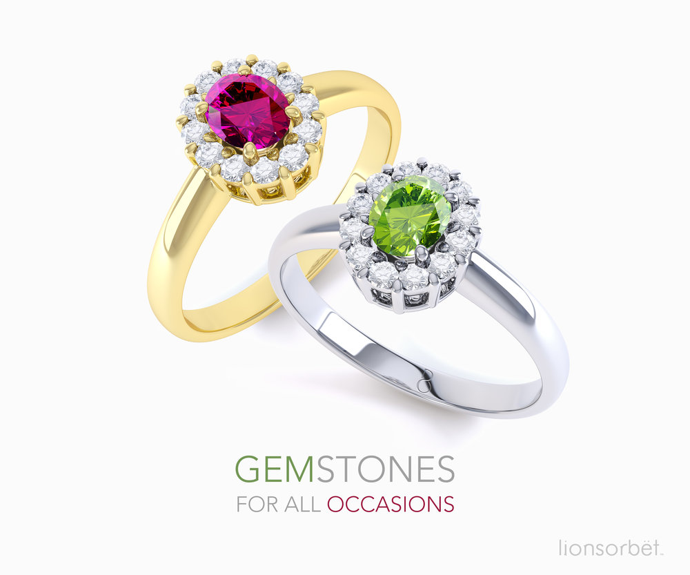 Gemstone showcase for www.diamond-boutique.co.uk