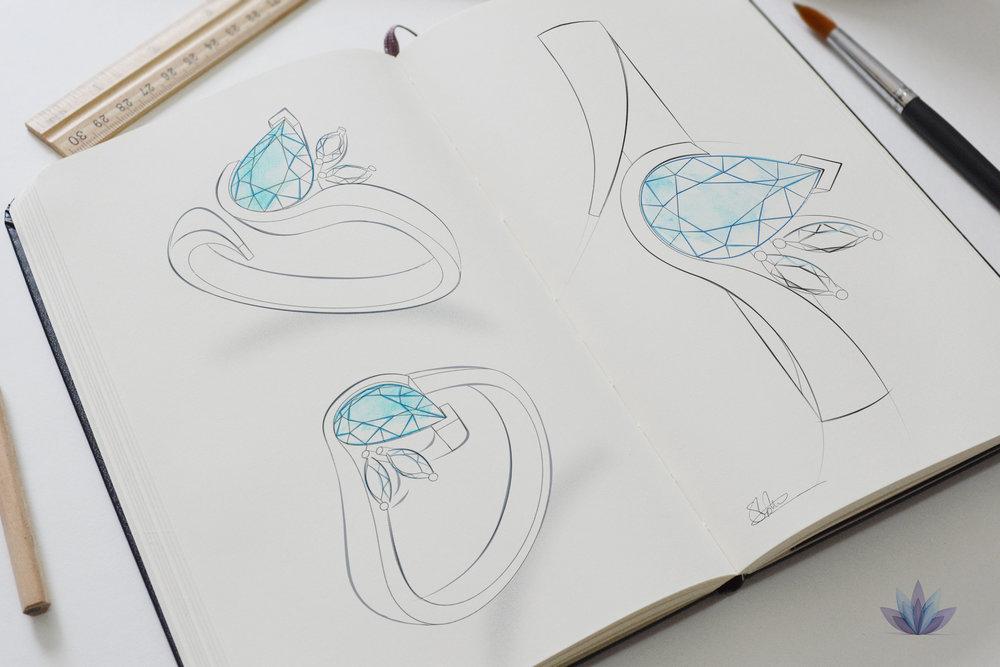 Jewellery Pencil Sketch design