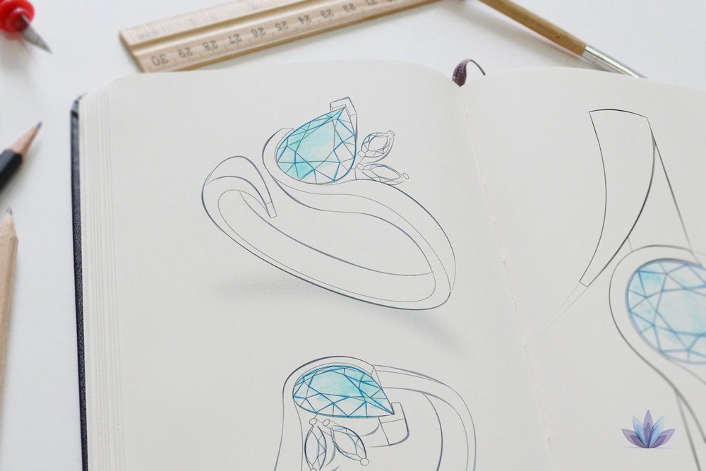 Jewellery sketch concept