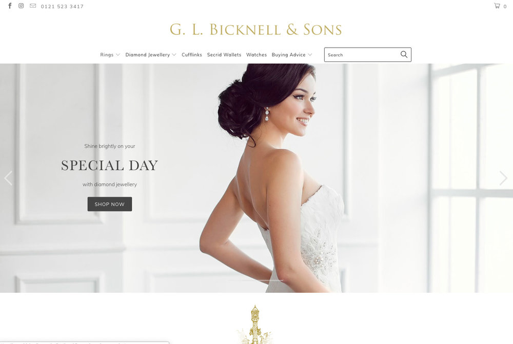 Bicknells Jewellery - Beautiful hand made engagement and wedding rings to order in the heat of Birmingham's jewellery quarter. Bicknells Jewellers offer a traditional buying experience for couples looking to get engaged and married.
