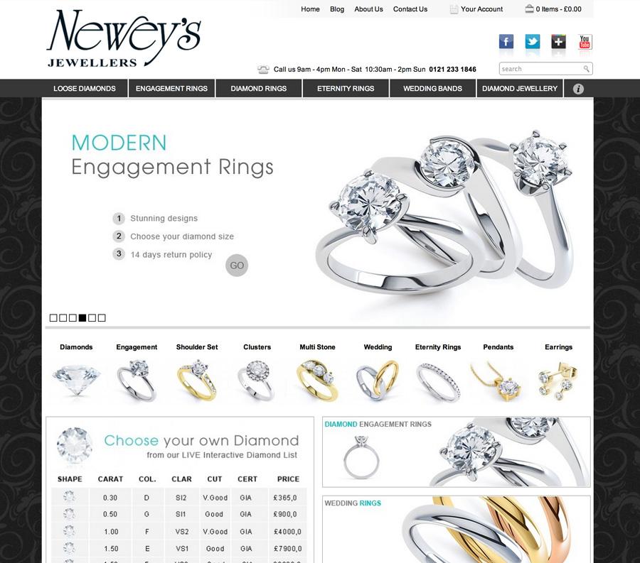 diamond jewellery web design