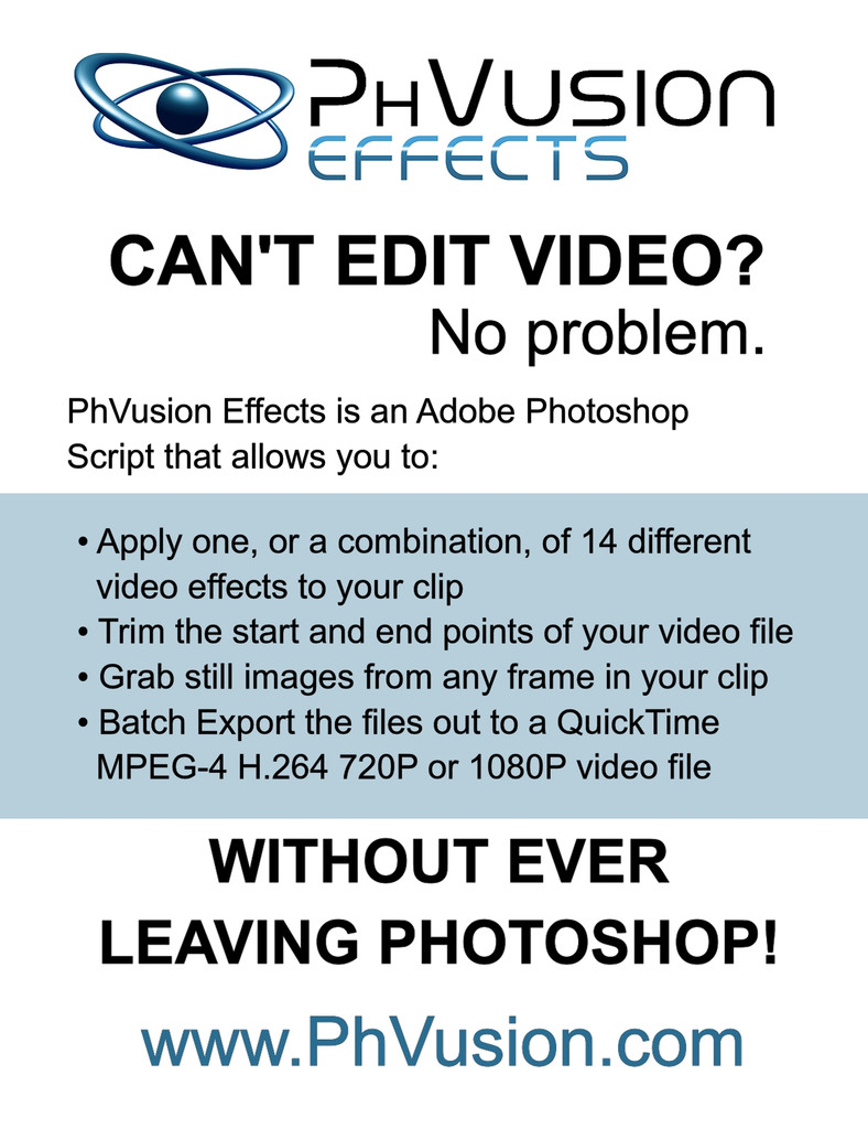 Fusion Album Builder Action Set & PhVusion Effects v2 2 Combo Pack