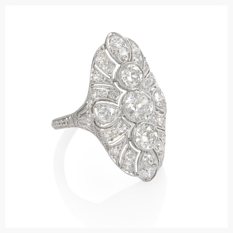 Vintage diamond engagement ring.    Jewelry Photography NYC Image © KKish 2015