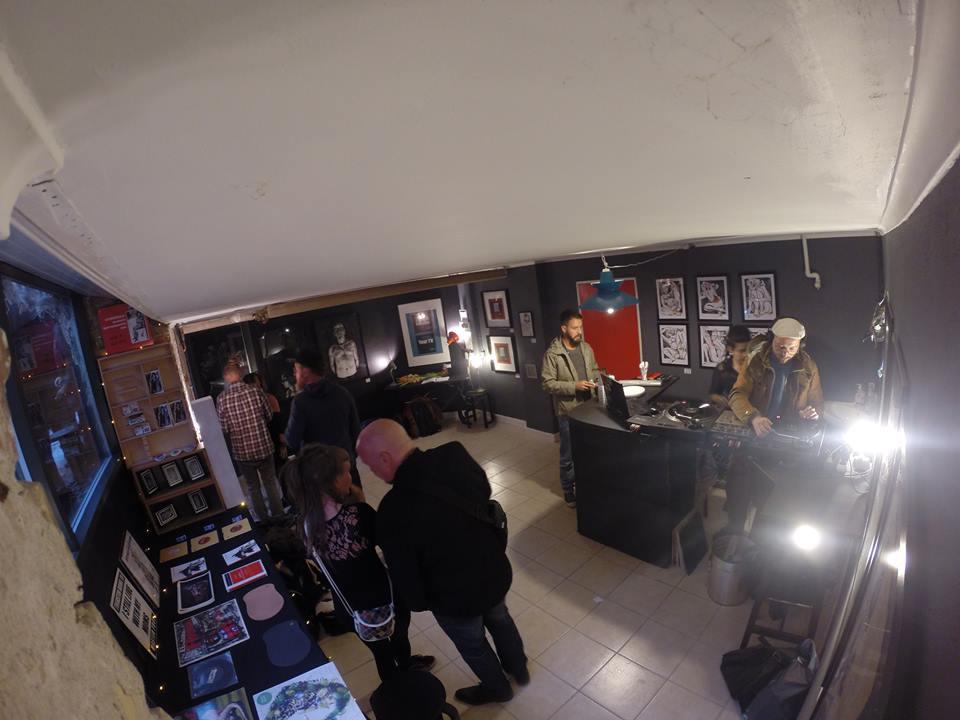 Red Door Studio opening.  DJ    Frekvens Kontrol  .   Aug 2014                     Photo by Søren  Forsom (aka. Face it)