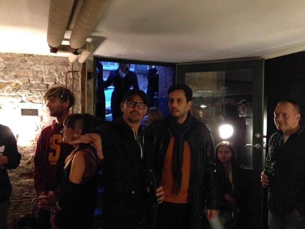 Red Door Studio opening.  Marko Eskalante  & friends.  Aug 2014                            Photo by Andreea Vlad