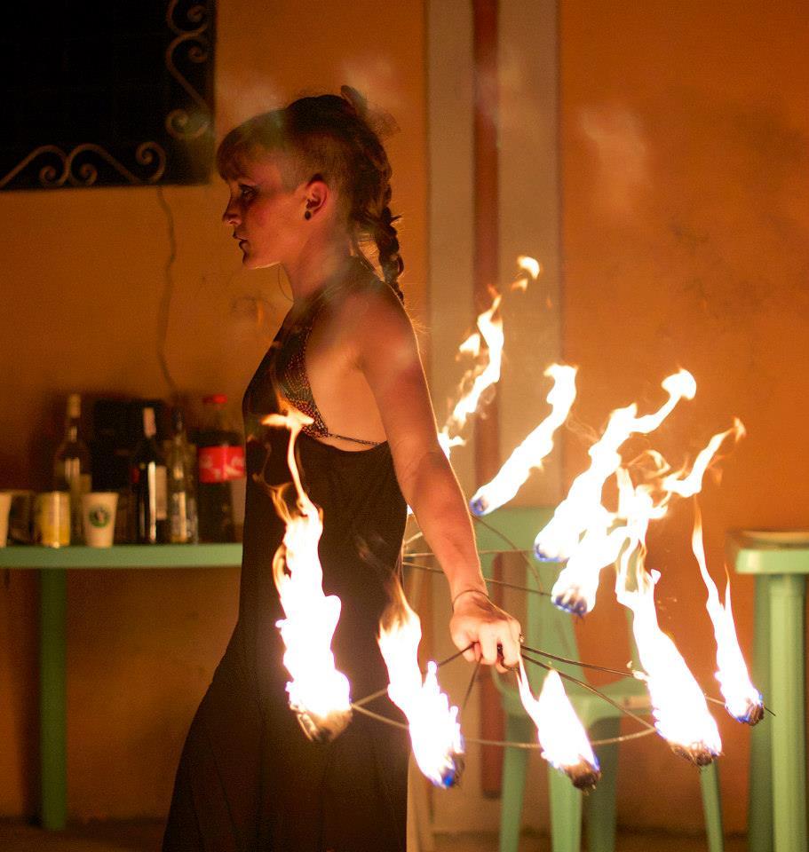 Mette Højland Frisch performing.                                                     Photo by  Neil Wilkinson