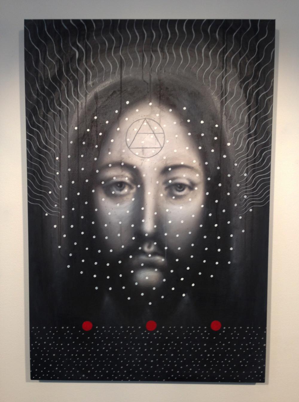 """Quantum Christ"" 61 x 91 cm                                                           Photo by Andreea Vlad"