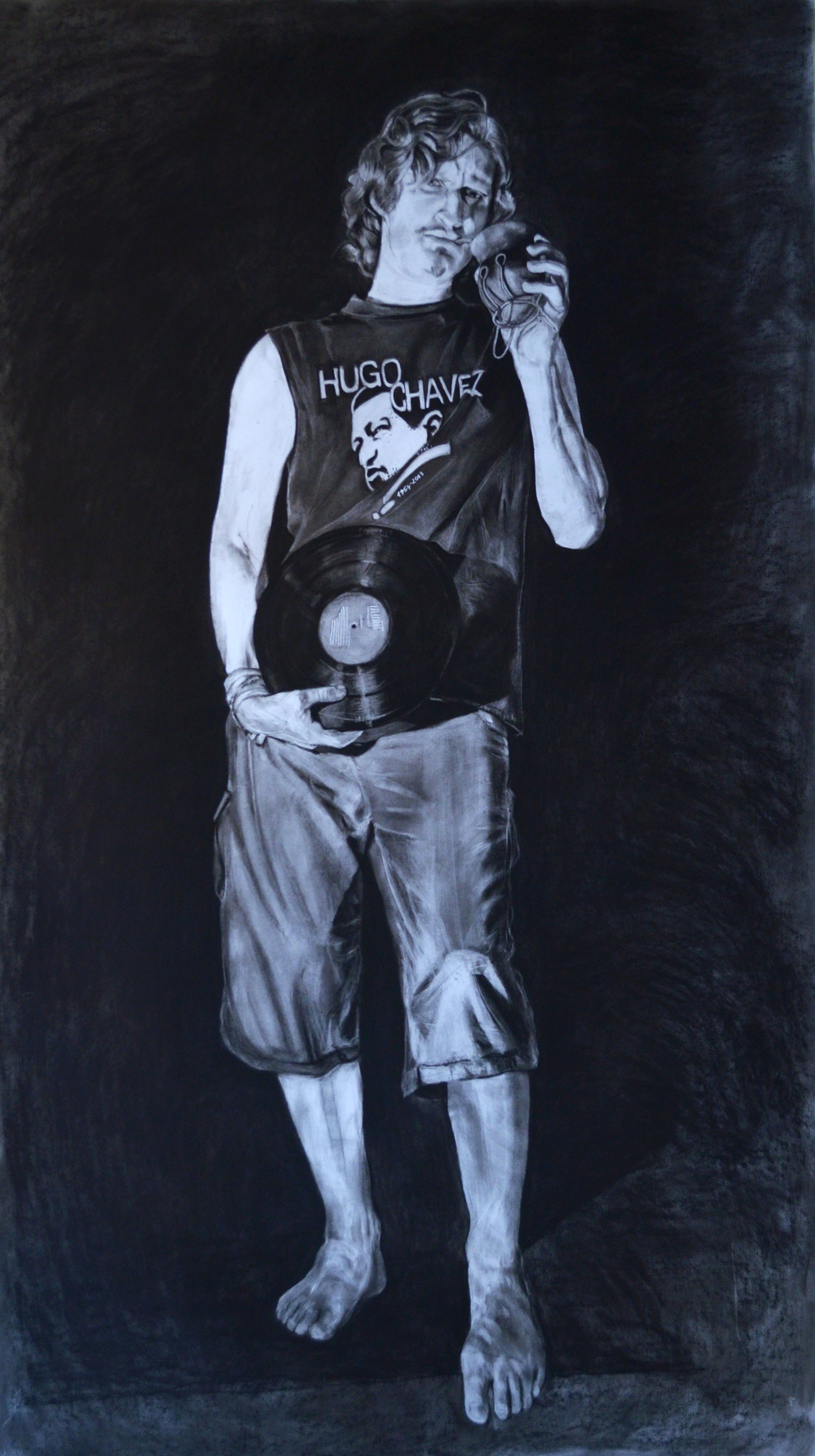 """Franco Bianco"" - drawing, pastel on paper, 120 x 200 cm, 2014"